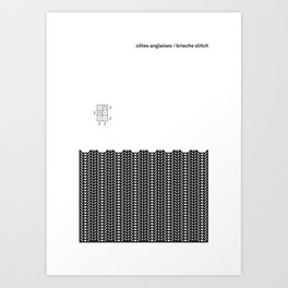 côtes anglaises / brioche stitch Art Print