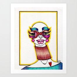 JennyMannoArt Colored Illustration/Sheila Art Print