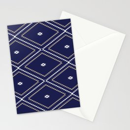 Navajo Pattern - Tan / White / Navy Stationery Cards