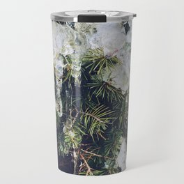 Tree in ice Travel Mug