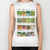 vegetable Biker Tanks featuring Vegetable Seeds by La Maison du Lapino