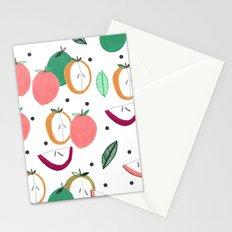 Apple print. illustration, art, print, design, pattern, fruit, food, fun, print design Stationery Cards