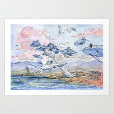 The city on the sea! Art Print