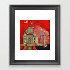 taj mahal in pink Framed Art Print