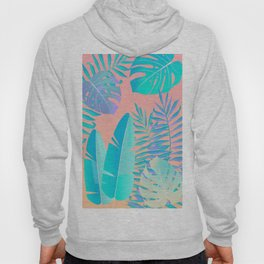 Tropics ( monstera and banana leaf pattern ) Hoody