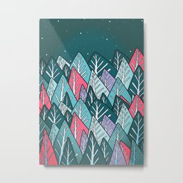 The autumn winter forest Metal Print