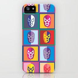 mascaras de luchadores II iPhone Case