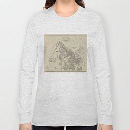 Vintage Map of Tacoma Washington (1907) Long Sleeve T-shirt