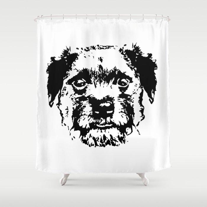 BORDER TERRIER DOG Shower Curtain