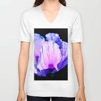 poppy V-neck T-shirts featuring Poppy by CrismanArt
