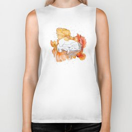 Cat and Golden Fishes Biker Tank