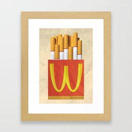 Unhappy Meal Framed Art Print