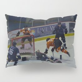 Dive for the Goal - Ice Hockey Pillow Sham