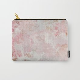 Vintage Floral Rose Roses painterly pattern in pink on #Society6 Carry-All Pouch