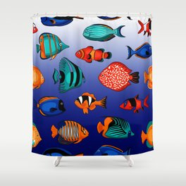 Peces tropicales Shower Curtain