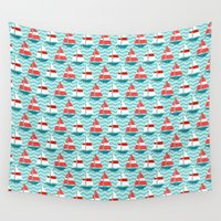 boat Wall Tapestries featuring Boat by Valendji