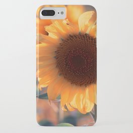 Soon she donates seeds for the birds the sunflower iPhone Case