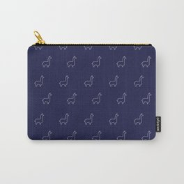 Baesic Llama Pattern (Navy Blue) Carry-All Pouch