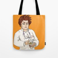 oitnb Tote Bags featuring Red OITNB by StephDere
