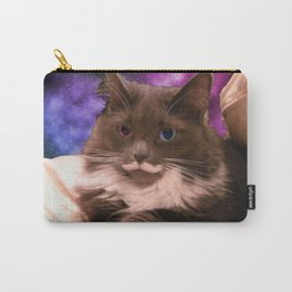 Galactic Mustache Cat Carry-All Pouch