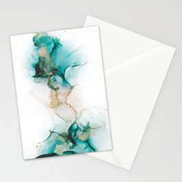 Teal Succulent Stationery Cards