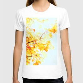 Yellow Maple leaves, Autumn Unfolds T-shirt