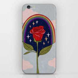 Single red rose iPhone Skin