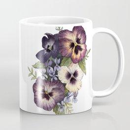 Watercolor Pansy Bouquet Coffee Mug