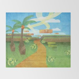 The landscape Throw Blanket