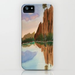 Cliffside Reflections iPhone Case