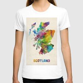 Scotland Watercolor Map T-shirt