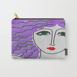 Purple Hair Abstract Digital Painting Carry-All Pouch