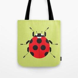 Lady Bug Yellow Tote Bag