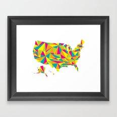 Abstract America Bright Earth Framed Art Print