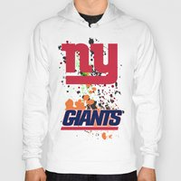 giants Hoodies featuring ny giants by Dan Solo Galleries