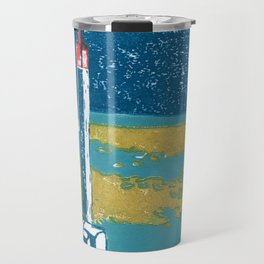 Seaview Fire Beacon in Turquoise Travel Mug