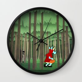 Little Red Riding Unicorn Wall Clock