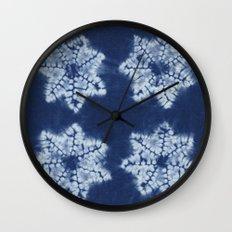 Shibori five Wall Clock