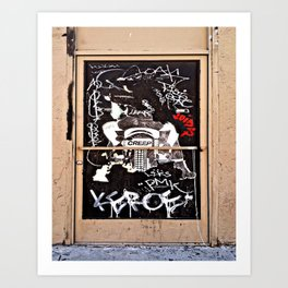 Grafitti Door - Creep Art Print