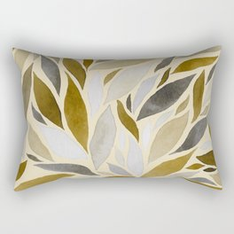 Abstract Watercolour Leaf VI Rectangular Pillow