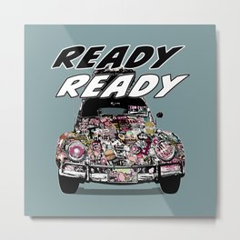 POP CAR Ready Ready Metal Print