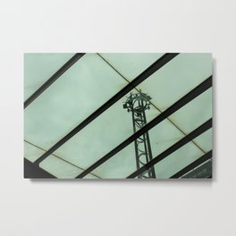 Waiting for the Bus Metal Print
