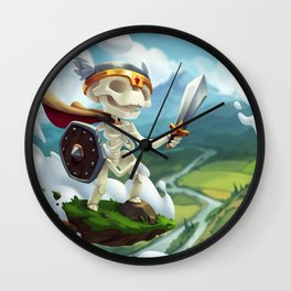 The Flying Skeleton Wall Clock