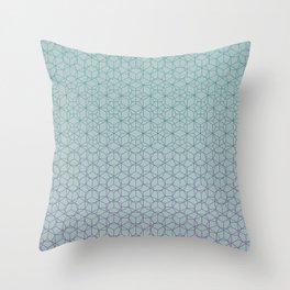 Tessellation - Culture Clash - Polytone Teal / Indigo Throw Pillow