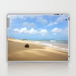 Loquillo Beach Photography - Turquoise Ocean, Blue Sky, Warm Golden Sand Laptop & iPad Skin