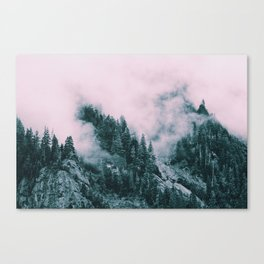 Pink Clouds Creeping Canvas Print