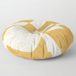 Abstract - Vase Shapes in Honey Floor Pillow