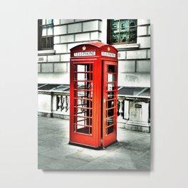 Vintage Phonebox Metal Print