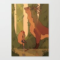 princess mononoke Canvas Prints featuring Princess Mononoke by StrangelyKatie