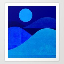 Abstraction_Moonlight Art Print